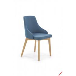 Toledo - krzesło dąb miodowy-turkusowy