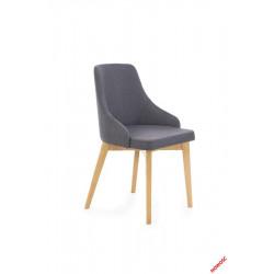 Toledo - krzesło dąb miodowy - ciemno szary
