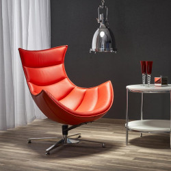 Luxor - nowoczesny fotel skórzany